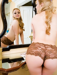 """Jannelle Priego is admiring her incredible body in the mirror, constantly remarking """"I can't believe how sexy I am,"""" as her fingers"""